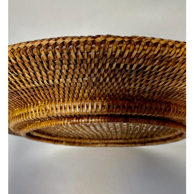 """Vintage Extre-Large 18"""" Open Weave Wicker Chargers, Set of 8 For Sale In Los Angeles - Image 6 of 8"""