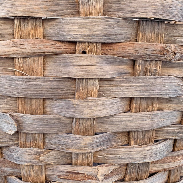 Massive 19th Century Oak Splint Wool Basket For Sale - Image 11 of 13