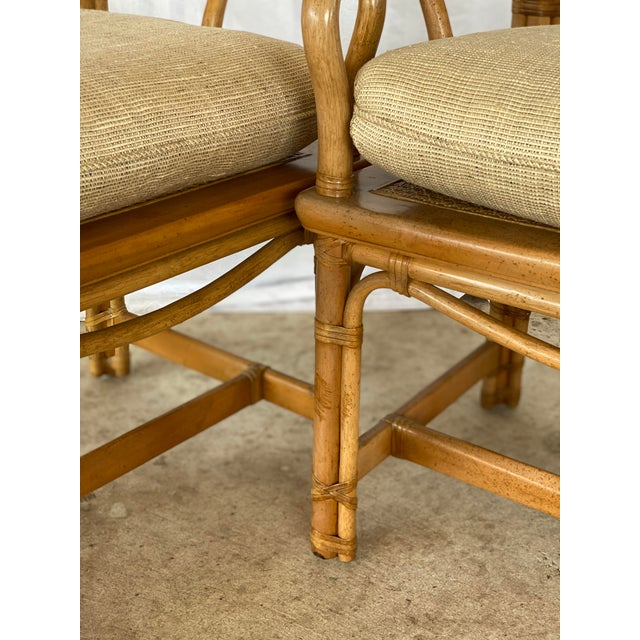Henredon Ming Rattan Chairs - a Pair For Sale - Image 12 of 13