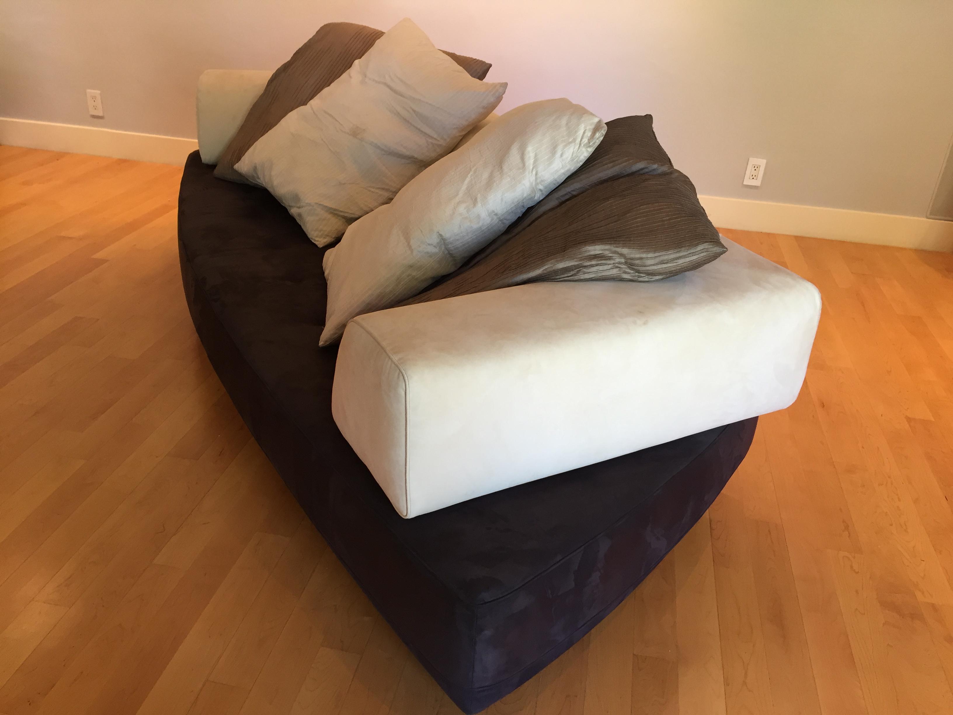 roche bobois floor cushion seating. Roche Bobois Modern 3-Seat Sofa With 4 Silk Pillows - Image 5 Of Floor Cushion Seating