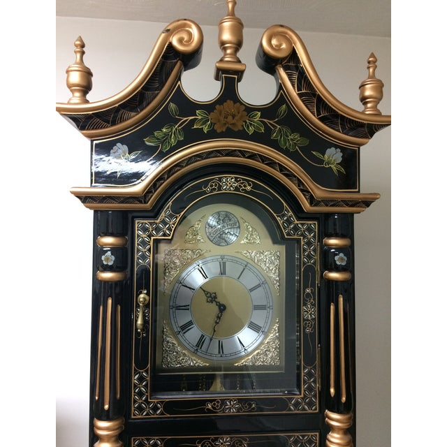 Asian Vintage Chinese Grandfather Clock For Sale - Image 3 of 6