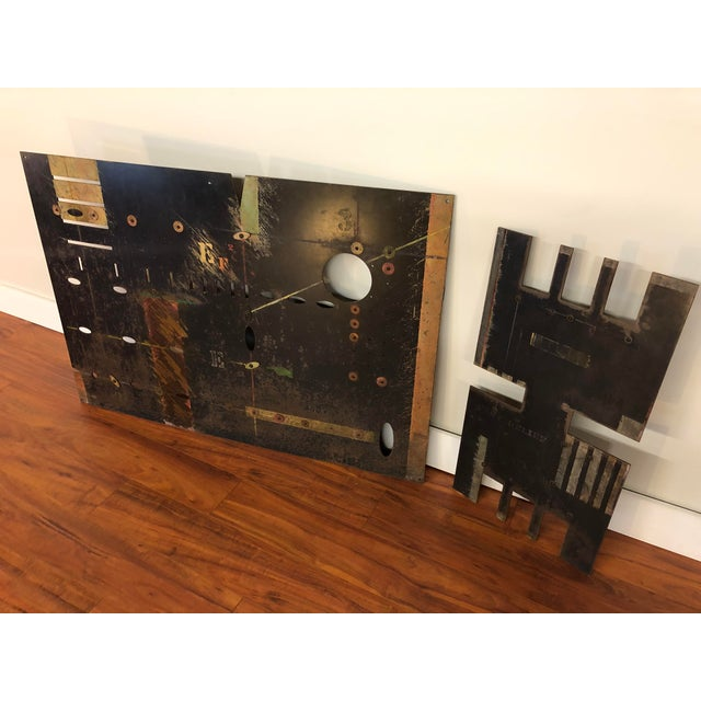 Abstract Vintage Sheet Metal Industrial Artworks - a Pair For Sale - Image 3 of 13