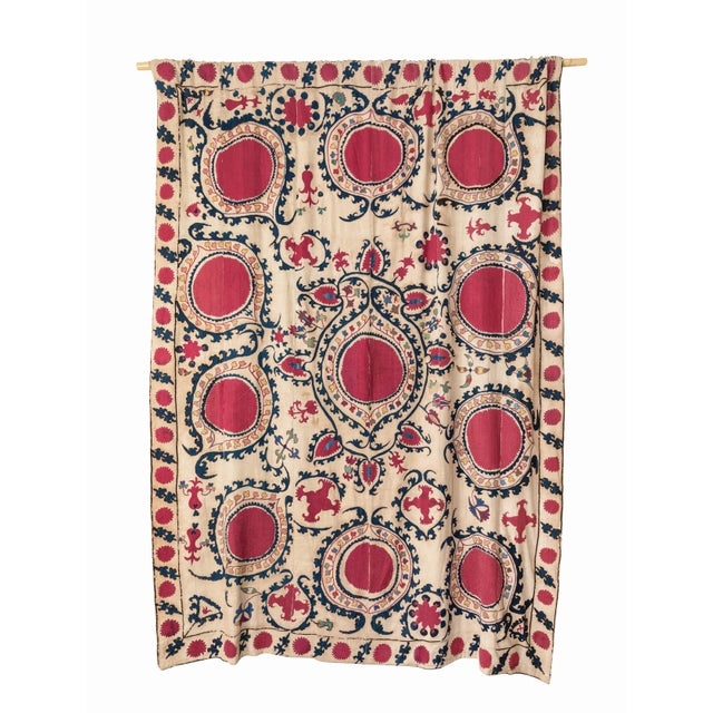 Antique Hand Embroidered Suzani Textile For Sale In Los Angeles - Image 6 of 6