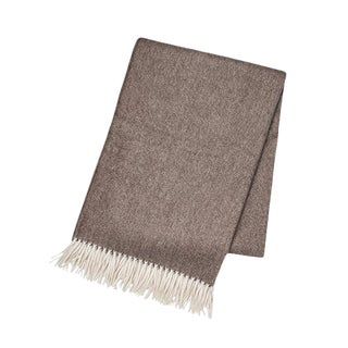 Brown Cashmere Throw For Sale