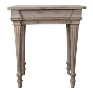 Fluted Wood Table
