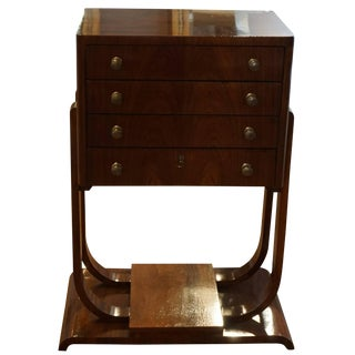 20th Century French Art Deco Mahogany Chest of Drawers For Sale