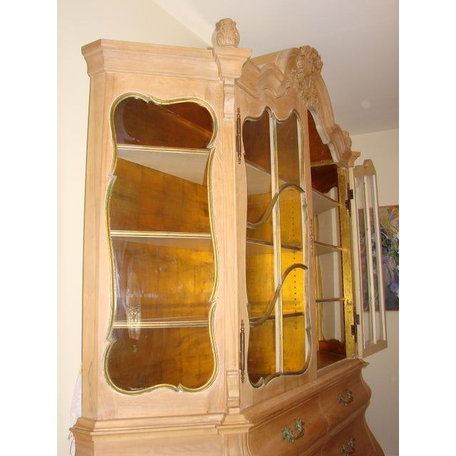 Antique Breakfront China Display Cabinet For Sale - Image 4 of 9