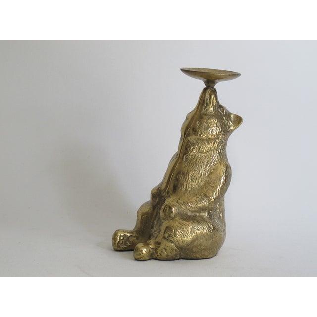 Brass Circus Bear Candleholder - Image 4 of 9