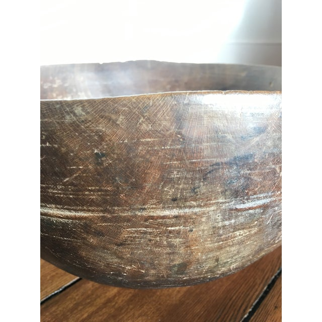Americana 19th Century Antique Burl Wood Bowl For Sale - Image 3 of 7
