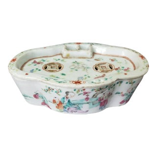Circa Late 18th/Early 19th Century Chinese Famille Rose Soft Paste Porcelain Cricket Cage Box For Sale