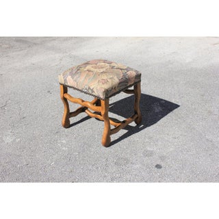 Mid-19th Century French Louis XIII Style Os De Mouton Walnut Low Stool Preview
