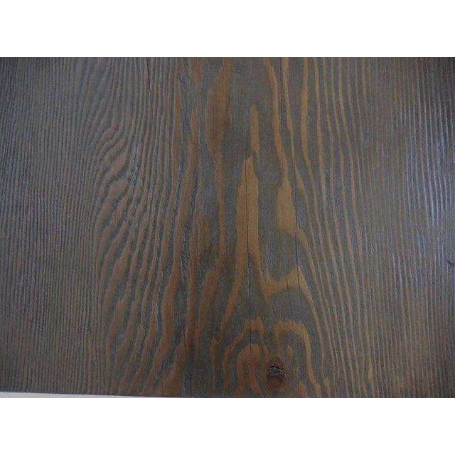 Black Reclaimed Wood Buttress Console For Sale - Image 8 of 9