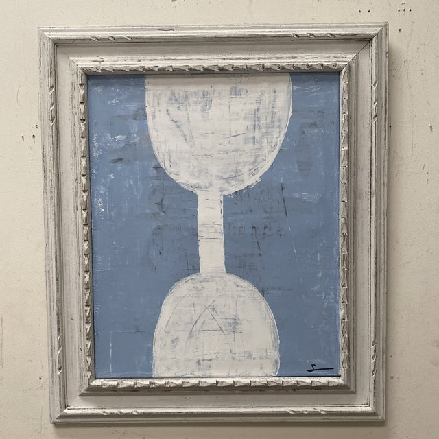 1980s Abstract Mixed-Media Painting, Framed For Sale - Image 5 of 12