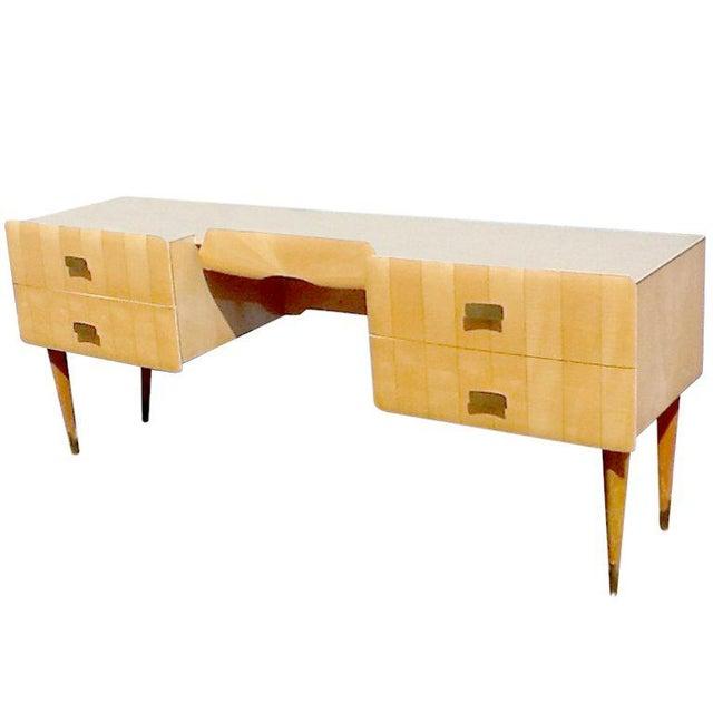 White 1950s Pier Luigi Colli Vintage Italian Design Ashwood Desk For Sale - Image 8 of 8