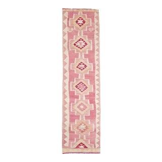 """Pink Vintage Turkish Kilim Runner, 2'6"""" X 9'10"""" For Sale"""