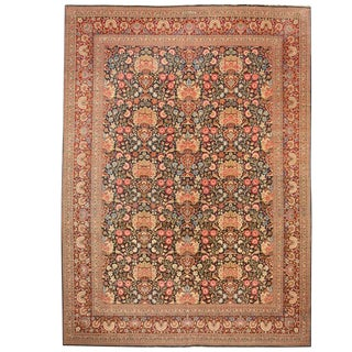 Exceptional Antique Persian Dabir Kashan Carpet 'Signed Dabir L Sanaye' For Sale