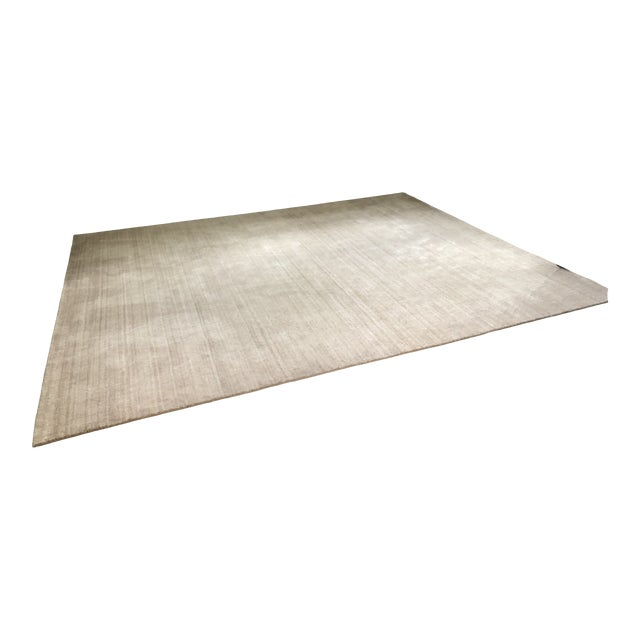 Serena & Lily Handknotted Champagne Area Rug For Sale