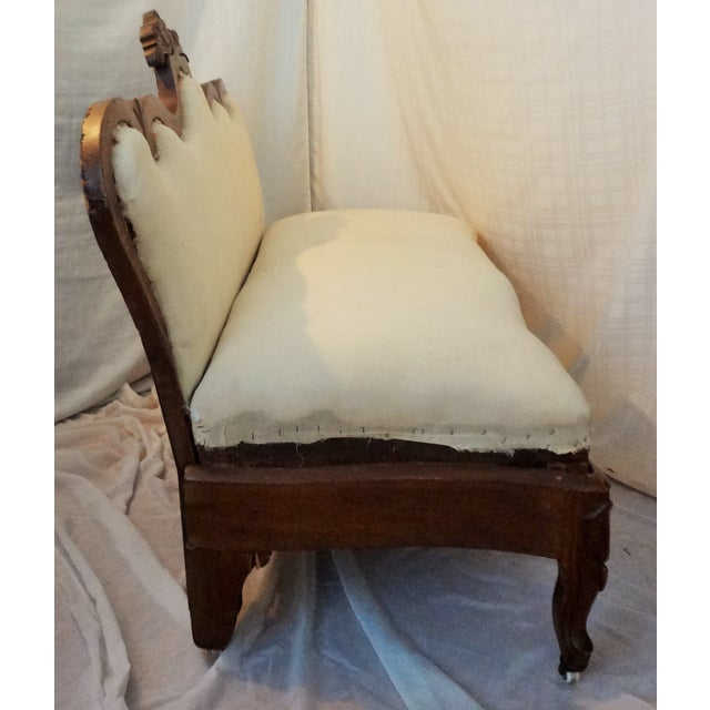 Early 20th Century Antique Hand-Made Love Seat For Sale - Image 4 of 7