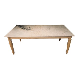 French Country Polished Marble Top Dining Table For Sale