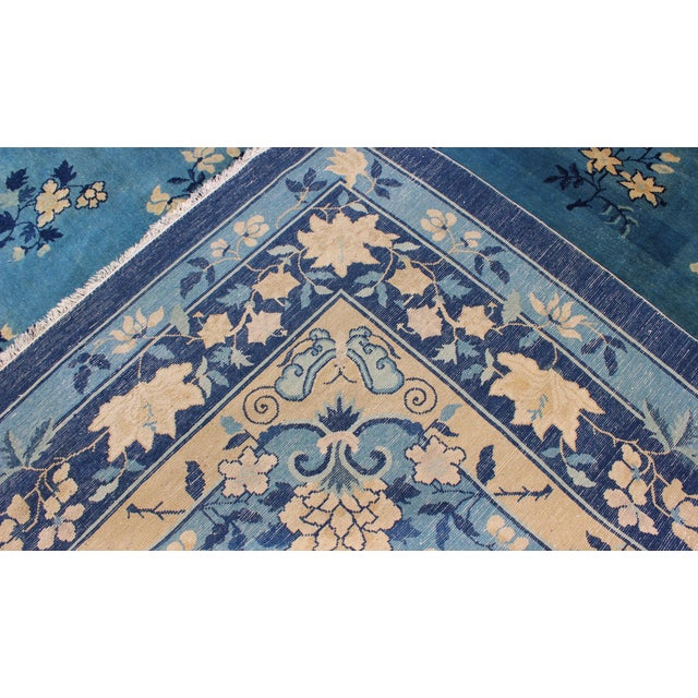 Early 20th Century Antique Chinese Peking Rug - 9′10″ × 11′8″ For Sale In Atlanta - Image 6 of 9