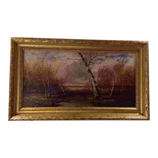 19th Cent. American Oil Painting by James David Smillie(1833-1909) For Sale