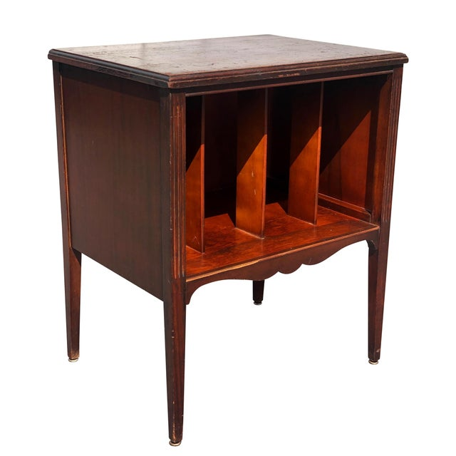 Antique Traditional Mahogany Carved Vinyl Record Cabinet Holder For Sale - Image 12 of 12