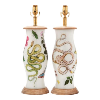 Liz Marsh Designs Eden Lamps - a Pair For Sale