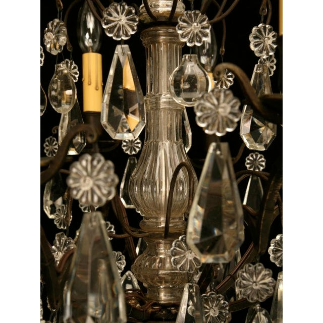 Vintage French Crystal 8 Light Chandelier For Sale - Image 9 of 10