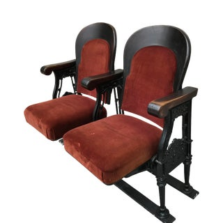 1920s Antique Opera House Theatre Seats For Sale