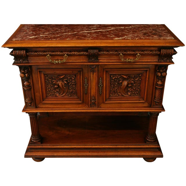 1900 French Renaissance Sideboard Server For Sale In Columbia, SC - Image 6 of 12