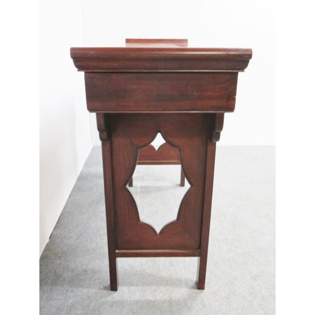 Chinese Rosewood Inlaid Altar Style Console Table For Sale - Image 4 of 9