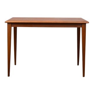 Elegant Danish Modern Walnut Side Table For Sale