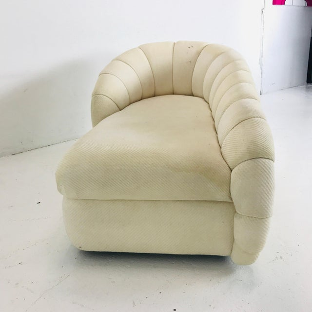1970s MCM Channel Chaise by Directional For Sale - Image 5 of 12