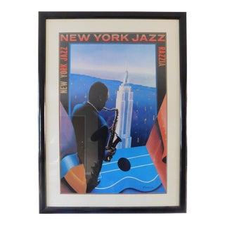 1990s New York Jazz Razzia Gerard Courbouleix Poster For Sale