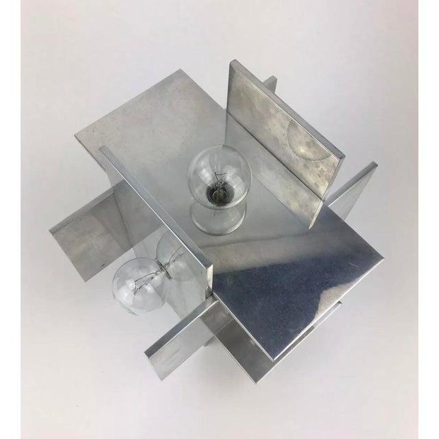 Brutalist Rare Vintage Paul Mayen for Habitat Post Modern Geometric Aluminum Planed Lamp For Sale - Image 3 of 7
