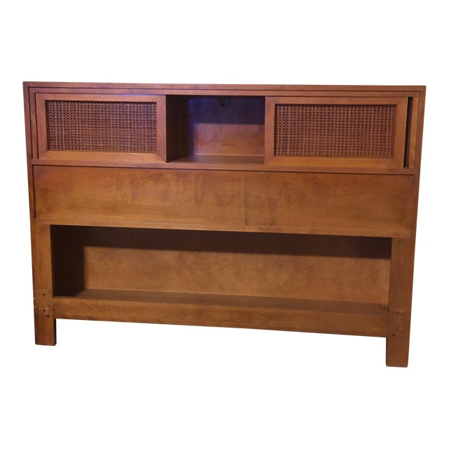 Russell Wright for Conant Ball Full Size Bookcase Headboard For Sale