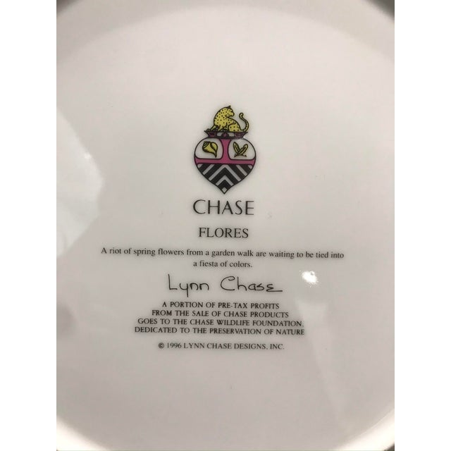 """1990s Lynn Chase """"Flores"""" Assorted Colors Dinner Plates - Set of 14 For Sale - Image 10 of 12"""