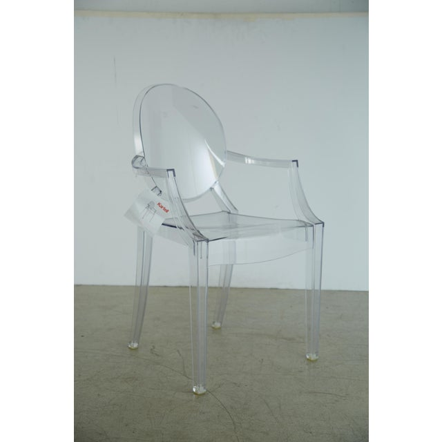 Louis XVI Ghost Chairs by Philippe Starck for Kartell, Unused With Original Tags, 12 Available For Sale - Image 9 of 10