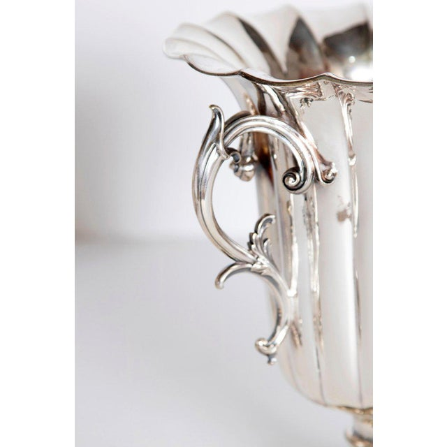 Mid 19th Century Mid-19th Century Pair of Silver Plate Ice Vases by Elkington & Co., England For Sale - Image 5 of 13