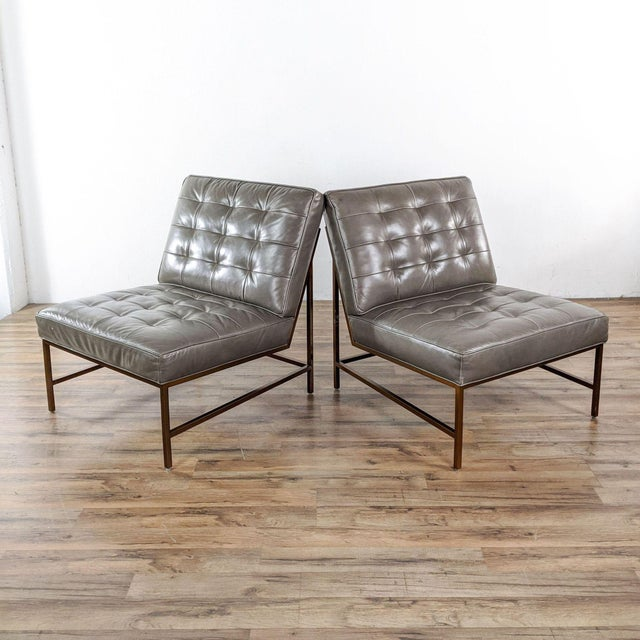Mitchell Gold + Bob Williams Major Leather Chairs - a Pair For Sale - Image 13 of 13