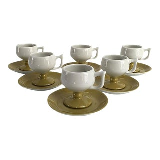 Mid-Century Caribe Hotel Demitasse Cups and Saucers - Set of 12