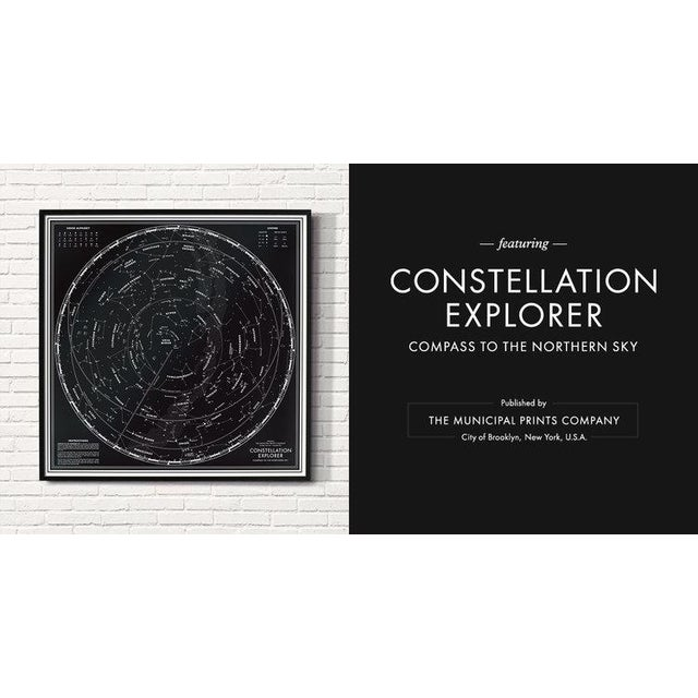"""Contemporary """"Constellation Explorer"""" Northern Hemisphere Star Chart Print For Sale - Image 3 of 3"""