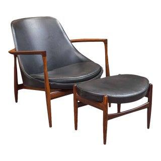 Ib Kofod-Larsen Elizabeth Lounge Chair and Ottoman For Sale