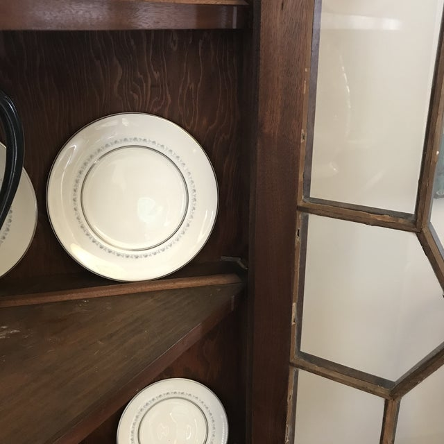 Wood Antique Corner China Cupboard For Sale - Image 7 of 10