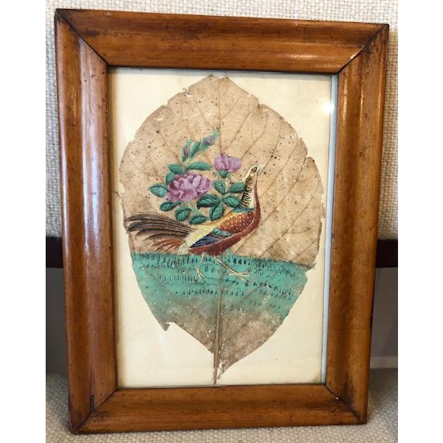 Mid 19th Century Tobacco Leaf Painting For Sale - Image 6 of 6