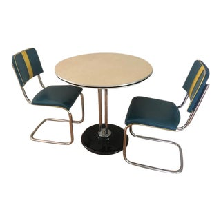 RoyalChrome Furniture Art Deco Dinette 3-Piece Set