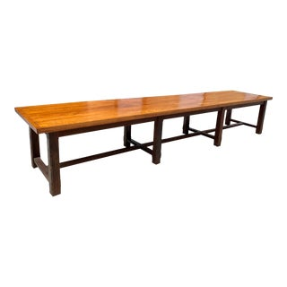 19th Century French Louis Philippe Period Chateau Monastery Table For Sale