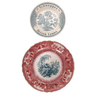 English Staffordshire Transferware, C.1830 - A Pair For Sale