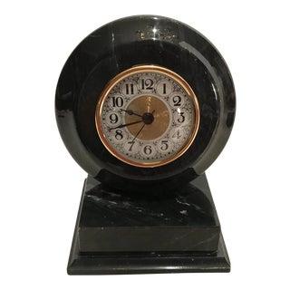 Vintage Marble Base Clock For Sale
