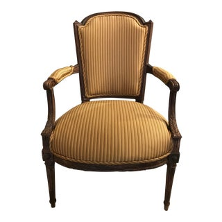 19th C. French Louis XV Fauteuil Arm Chair For Sale